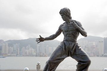 香港 ブルース リー 銅像
