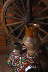 Traditional jug of wine