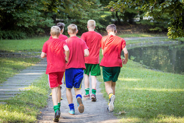 Young male runners