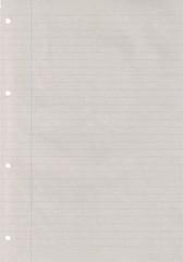Papierblatt liniert