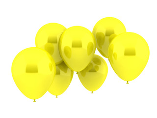 Seven Party Balloons in yellow Color