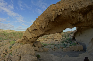 Natural Arch in the Desert