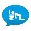 Etiqueta tipo app azul comentario simbolo vomitar