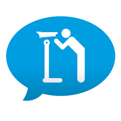 Etiqueta tipo app azul comentario simbolo vista panoramica