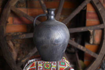 Traditional homemade jug