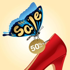 sale,fashion,shopping,butterfly