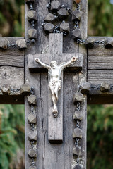 Close up shot of a crucifix