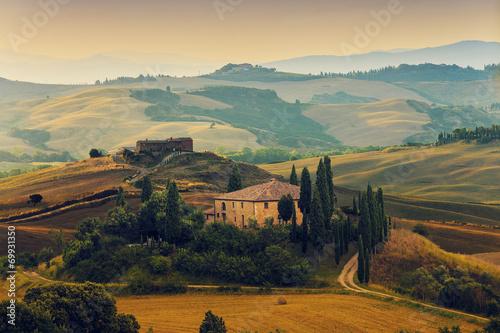 Leinwandbild Motiv Tuscany, Italy - San Quirico d'Orcia