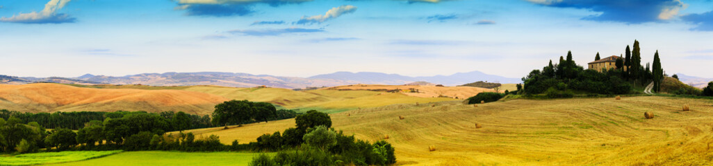 Tuscany, Italy - San Quirico d'Orcia, panorama
