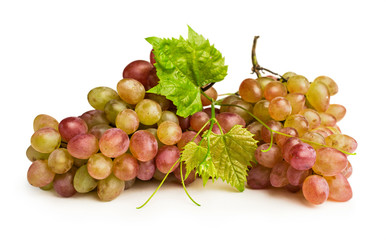 ripe pink grapes