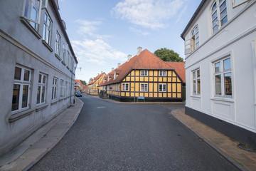 Gelbes Fachwerkhaus Rudkøbing