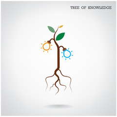 Tree of Knowledge concept. Education and business sign.