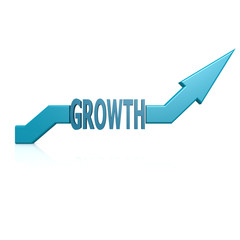 Growth blue arrow