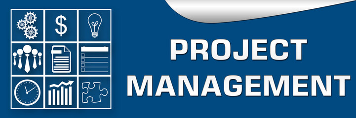 Project Management Blue White Banner