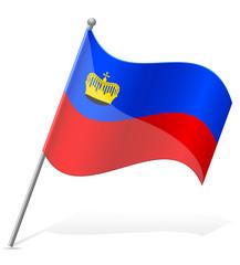 flag of Liechtenstein vector illustration