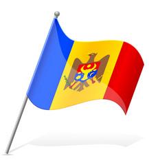 flag of Moldova vector illustration