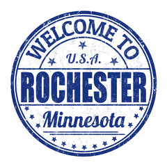 Welcome to Rochester stamp