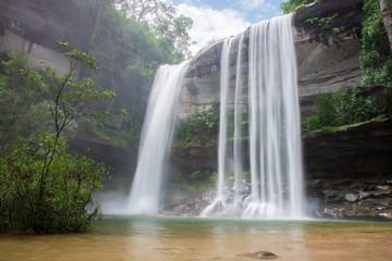 Waterfall beautiful in wild nature