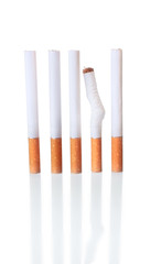 The Cigarettes in a Row with One Crumpled