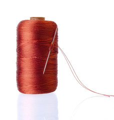 Spool of Silk Threads with Needle