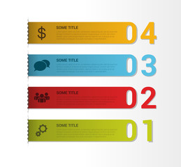 Set of bookmarks, labels, tags. Numbered banners. Vector
