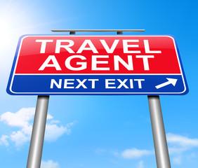 Travel agent concept.