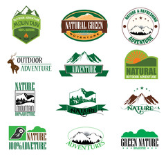 Mountain adventure outdoor illustration badge graphic design. Ve