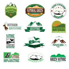 Mountain adventure outdoor illustration badge graphic design. Ve