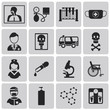 Medical black Icons set3. Vector Illustration eps10