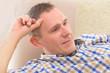 Man with deaf aid