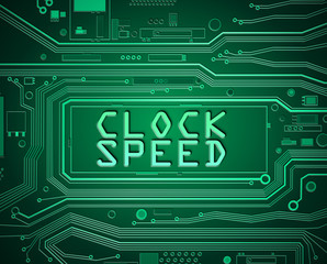 Clock speed concept.