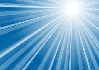Hintergrund Streifen mit Mittelpunkt blau