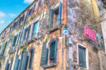 hdr building in Venice
