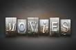 Постер, плакат: Movies Letterpress
