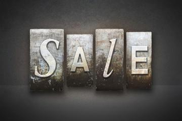 Sale Concept Letterpress