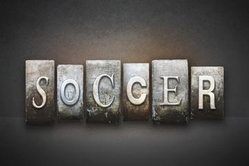 Soccer Letterpress