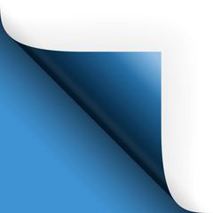 Papier / Seite umschlagen unten links blau