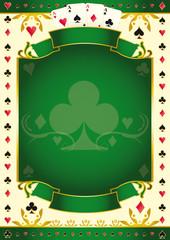Pokergame green club background
