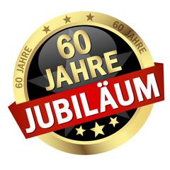 """Button mit Banner """" 60 JAHRE JUBILÄUM """""""