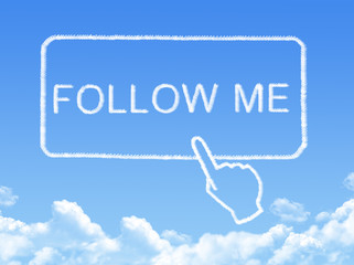 Follow me message cloud shape