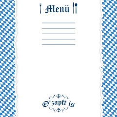 Ripped paper Oktoberfest background for menu