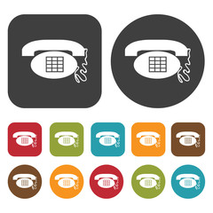 Old fashioned phone icon symbol set. Telephone and home phone se