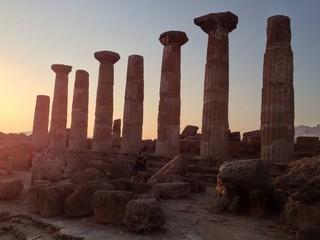 tramonto ai templi