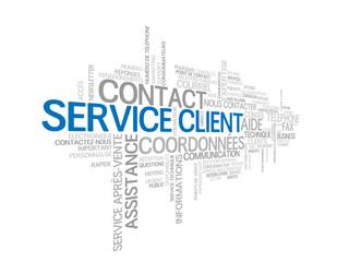 """Nuage de Tags """"SERVICE CLIENT"""" (contact coordonnées aide nous)"""
