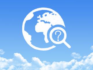 question search cloud shape