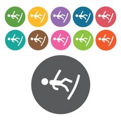 Free style snowboarding sign icon symbol set. Winter sport set.