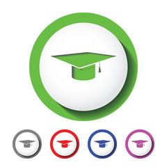 Graduation hat sign icon