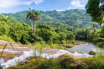 Contryside Waterfalls in El Nicho, Cuba