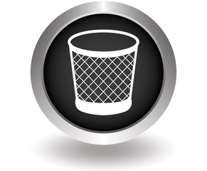 Recycle bin sign icon. Black Button for website. Vector illustra