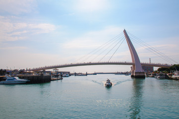 fisherman's wharf and the lover's bridge in tamsui